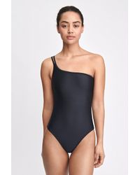 Filippa K Asymmetric Swimsuit - Black