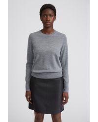 Filippa K Merino R-neck Sweater - Gray