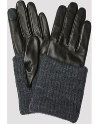 Filippa K Short Wool Rib Gloves - Black