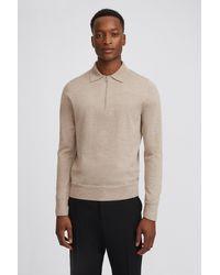 Filippa K Shawn Zip Polo Shirt - Natural