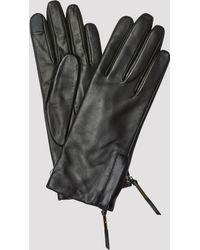Filippa K Zip Gloves - Black