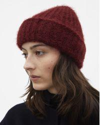 Filippa K - Mohair Hat Deep Red - Lyst