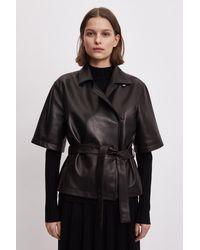 Filippa K Lara Leather Jacket - Black