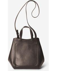 Filippa K Shelby Bucket Leather Bag Dark Cacao - Brown