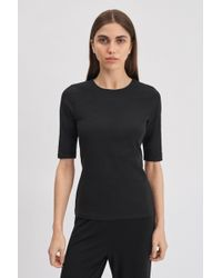 Filippa K Cotton Stretch Elbow Sleeve - Black
