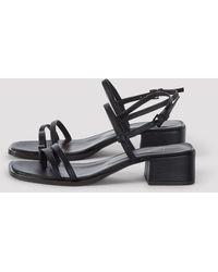 Filippa K Tessa Mid Heel Sandal - Black
