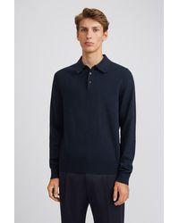 Filippa K Knitted Polo Shirt - Blue