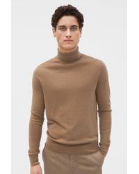 Filippa K Silk Mix Roller Neck Sweater - Brown