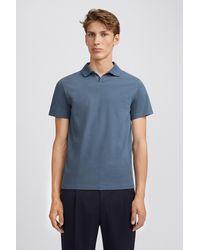 Filippa K Lycra Polo T-shirt - Blue