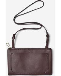 Filippa K Carol Leather Mini Bag - Purple