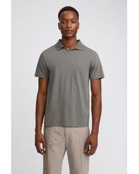 Filippa K Lycra Polo T-shirt - Grey