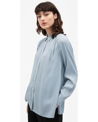 Filippa K - Feminine Shirt Dove Blue - Lyst