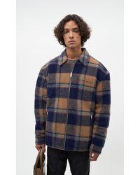 Filling Pieces Studio Flannel Jacket Orange/navy - Blue