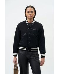 Filling Pieces Female Varsity Jacket Black