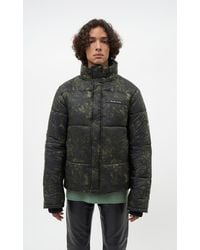 Filling Pieces Puffer Jacket Green Marble