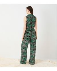 Finery London Angelica Printed Wrap Top - Green