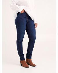FIORELLA RUBINO Jeans skinny dark blu washed