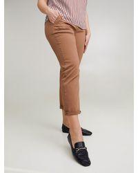 FIORELLA RUBINO Pantaloni chinos in cotone stretch - Marrone