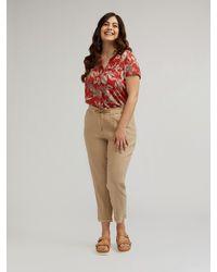FIORELLA RUBINO Pantaloni joggers in lino e viscosa - Neutro