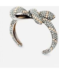Lanvin Bows Bracelet With Strass - Metallic