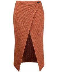 Alanui Illimani Ribbed-knit Skirt - Red