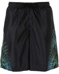Marcelo Burlon Wings Print Swim Shorts - Black