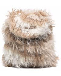 Brunello Cucinelli Drawstring Mohair Backpack - Brown