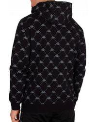 Kappa - Men Authentic Rodriguez Pullover Hoodie Sweatshirt, Black - Lyst