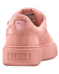 Lyst - Puma Platform Strap Satin Ep Women Sneakers c40a8979d