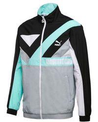 PUMA - X Diamond Supply Co. Men Wind Jacket, Black/ Light Grey/ Tiffany Blue - Lyst