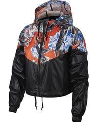 Lyst - Nike Bonded Windrunner Reflective Jacket in Gray 9280c57c0