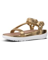 38be8d66d939fd Lyst - Fitflop Loosh Luxe Pink Sandals in Pink