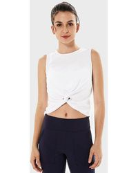 FITGIRL UNIVERSETM Knotted Vest - White