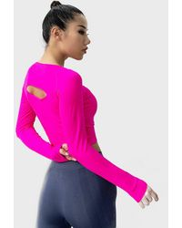 FITGIRL UNIVERSETM Back Cutted Long Sleeve Shirt - Pink