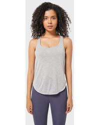 FITGIRL UNIVERSETM 2 In 1 Vest And Crossed Laces Sports Bra - Grey