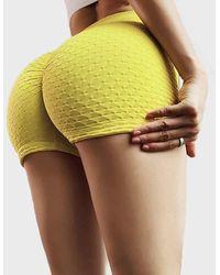 FITGIRL UNIVERSETM Small Texture Shorts - Yellow