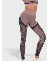FITGIRL UNIVERSETM Kombat Seamless Leggings - Pink