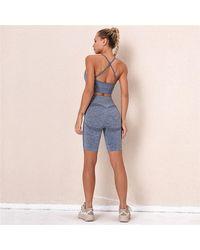 FITGIRL UNIVERSETM Kombat Shorts Gym Set - Blue