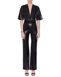 Galvan London - Black Sequin Galaxy Jumpsuit - Lyst