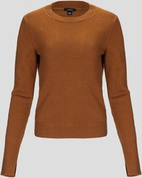JOSEPH Crewneck Pure Cashmere Sweater - Orange