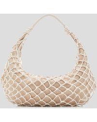 STAUD Large White Luna Net Bag