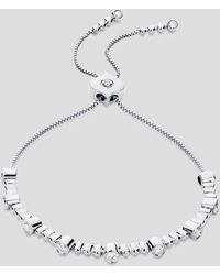 Sara Weinstock 18k White Gold Isadora Bezel Diamond Bolo Bracelet - Metallic