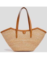 Mark Cross Madeline Large Straw & Leather Basket Bag - Brown