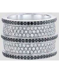 Emily P. Wheeler Double Cigar Ring - Metallic