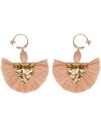 Elise Tsikis Paris Hora white tassel-drop earrings Oy56y