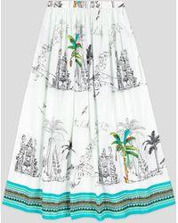 Le Sirenuse New Jane White Print Skirt