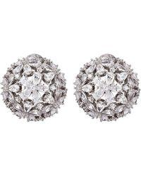 Fallon - Monarch Florette Button Earrings - Lyst