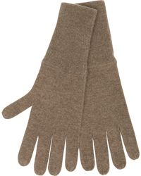 Allude Cashmere Gloves In Brown