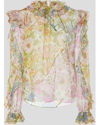 Zimmermann Super Eight Ruffle Shirt - Multicolor