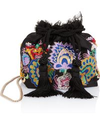 Etro - Multicolor Embroidered Pouch - Lyst